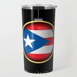 Feliz Navidad Puerto Rico Flag Travel Mug