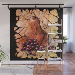 Pear and Grapes Fresco Wall Mural