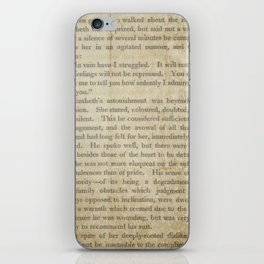 Pride and Prejudice  Vintage Mr. Darcy Proposal by Jane Austen   iPhone Skin