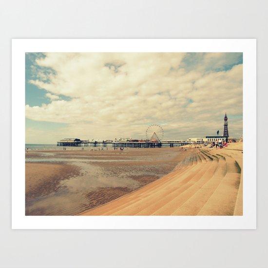 Blackpool Beach Art Print