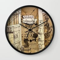 bauhaus Wall Clocks featuring Bauhaus by Mike Oncley