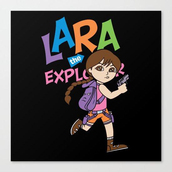 Lara the Explorer Canvas Print