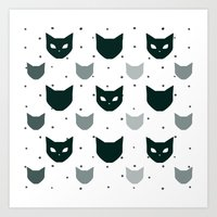 because cats Art Prints featuring Cats Cats Cats by Be Kindly