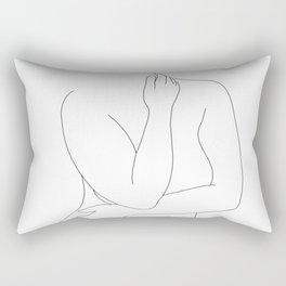 Nude figure line drawing - Eila Rectangular Pillow