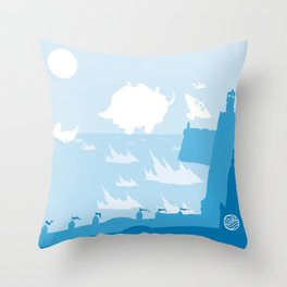 Avatar - Water Book Throw Pillow