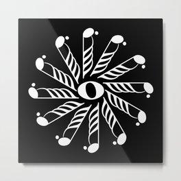Music note mandala 3 - inverted Metal Print