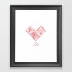 Love Shapes Framed Art Print