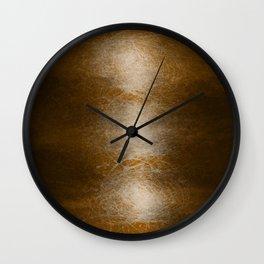 earth tone scrape Wall Clock