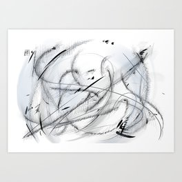 Abstract Landscape CS15 Art Print