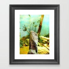 Vacation Lizard Framed Art Print