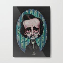 Edgar Allan Poe (Painting) Metal Print