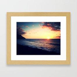 Kalalau Sunset Framed Art Print