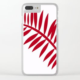 PALM LEAF RED Clear iPhone Case
