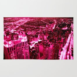 Chicago Skyline Hot Pink Rug