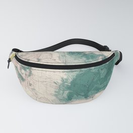 1883 USA Map of Density of Forests Fanny Pack