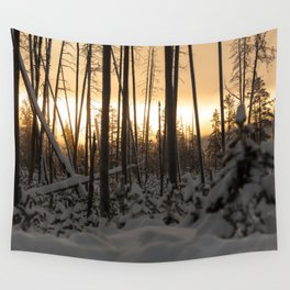 Yellowstone National Park - Sunrise Wall Tapestry