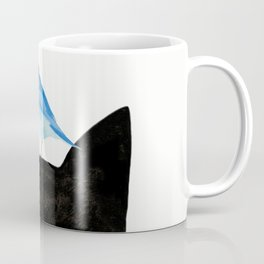 Cat and Bird Coffee Mug