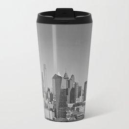 Black and White Philadelphia Skyline Travel Mug
