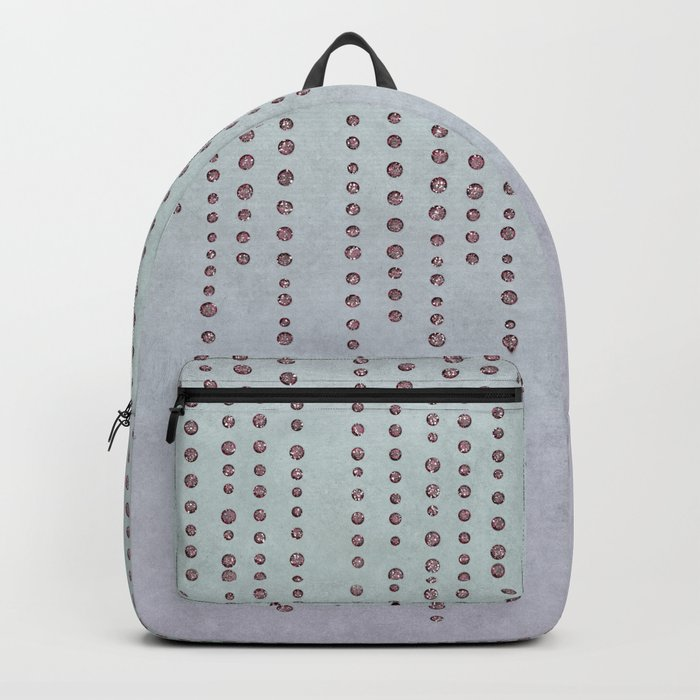 Sparkling Faux Glitter Soft Pastel Pink and Teal Backpack