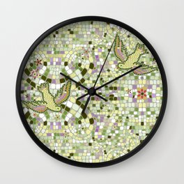 Bird Mosaic Wall Clock