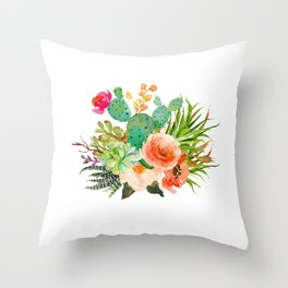 Floral Desert Throw Pillow