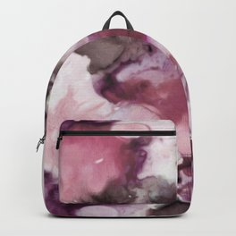 Organic Abstract in shades of plum Backpack