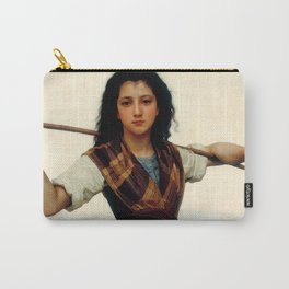 """William-Adolphe Bouguereau """"The Little Shepherdess"""" Carry-All Pouch"""