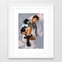 lara croft Framed Art Prints featuring Lara Croft: Tomb Raider by LaraRobsGraves
