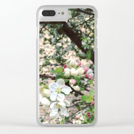 Crab-Apple Blossom Clear iPhone Case