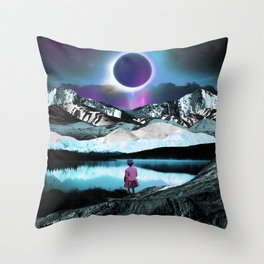 Behind the eclipse Throw Pillow