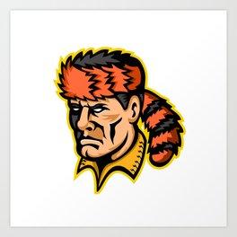 Davy Crockett Mascot Art Print