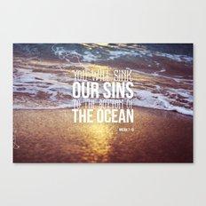 Micah 7:19 Canvas Print