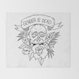 Gender is Dead Throw Blanket