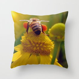 Bee Buzzy Throw Pillow