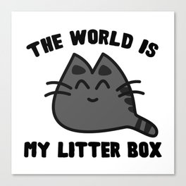 World Litter Box Canvas Print