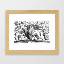 A griffin. Framed Art Print