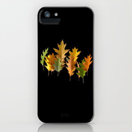 Variety coloured autumn oak leaves iPhone Case