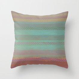 391 12 Dark Pastel Stripes Throw Pillow