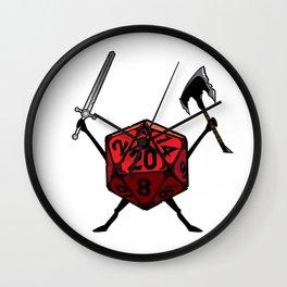 D20 Warrior Fighter Wall Clock