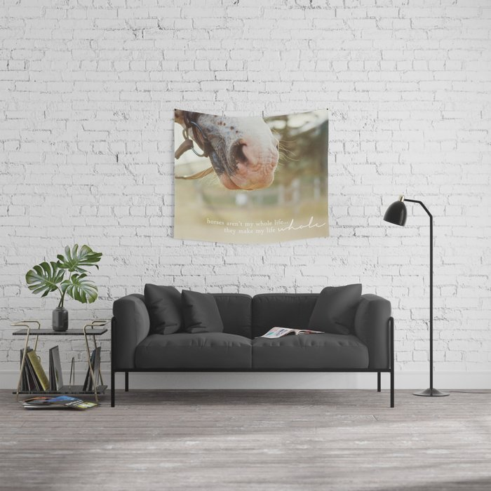 horses make me whole Wall Tapestry