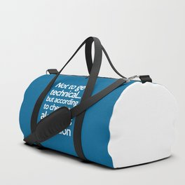 Alcohol Is A Solution Funny Quote Duffle Bag