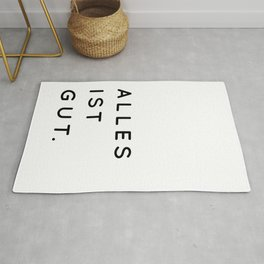 Alles ist Gut | Typography Minimalist Version Rug