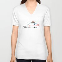 ghostbusters V-neck T-shirts featuring Ghostbusters - Car by V.L4B