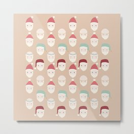 Santas - Mocha Metal Print
