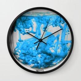 Sky Blue Water Wall Clock