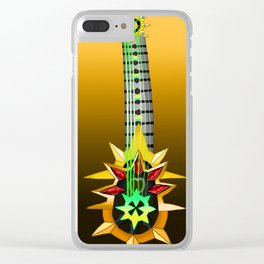 Fusion Keyblade Guitar #126 - Aubade & Omega Weapon Clear iPhone Case
