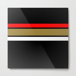 Team Colors...Red,gold,and white stripe Metal Print