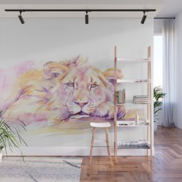 Lion _ Too hot to hunt Wall Mural