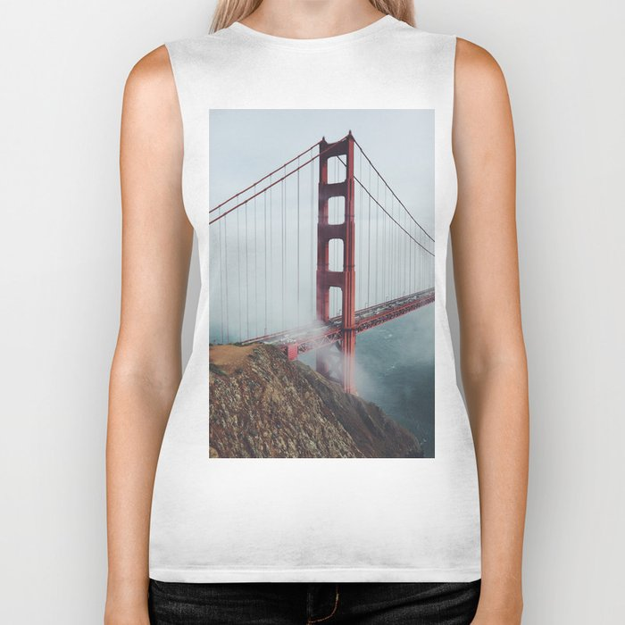 California Bridge photo Biker Tank