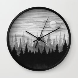The Mist Wall Clock